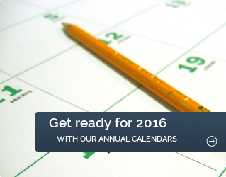 Get ready for 2016 with our annual calendars