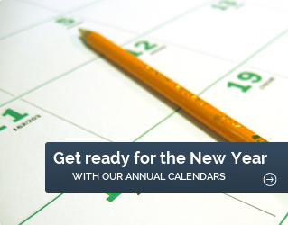 Get ready for 2018 with our annual calendars