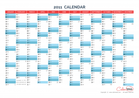 yearly calendar year 2011 yearly horizontal planning calenweb com