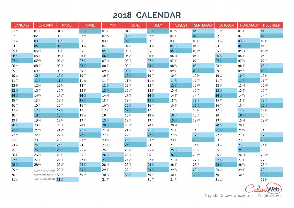 yearly calendar  u2013 year 2018 yearly horizontal planning